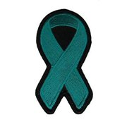 TEAL RIBBON FOR OVARIAN CANCER AWARENESS PATCH