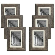 """Studio 500 6-Pack of 5x7"""" Distressed Grey Picture Frames"""