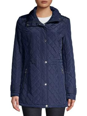 Front-Zip Quilted Jacket