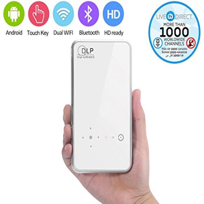 Portable Projector, VENENO M8 Touch Panel Mini Android Sm...