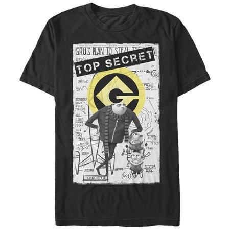 Despicable Me Men's Top Secret T-Shirt (Tall Minion)