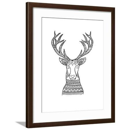 Animal Head Deer 1 Framed Print Wall Art By Neeti Goswami ()
