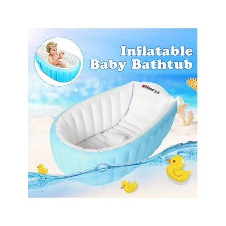 Portable Baby Bath Tub Kids Toddler Inflatable Bathtub ...