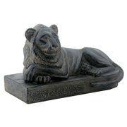 Dark Smiling Lion Lounging Statue