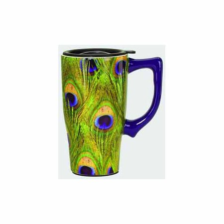 Peacock Travel Mug by Spoontiques - 12876