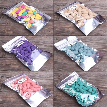 50pcs/bag Natural Sandalwood Backflow Incense Smoke Buddhism Pagoda Tower Indoor Hollow Cones Health Aroma Air Purifying Freshener Aromatherapy Mixed Scents/Lavender/Wormwood/Ocean/Carnation/Mint Opti