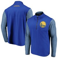 Golden State Warriors Fanatics Branded Made to Move Static Performance Quarter-Zip Pullover Jacket - Royal/Heathered