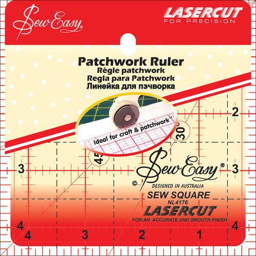 """SewEasy Square Quilt Ruler, 4.5"""" x 4.5"""""""