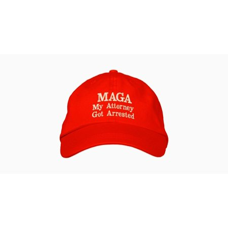 47e66f678cc MAGA Hat - My Attorney Got Arrested Donald Trump Presidential Slogan Make  America Great Again Parody Cap - Walmart.com