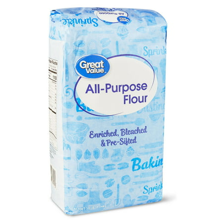 (2 Pack) Great Value All Purpose Flour, 10 Lb (Substitute All Purpose Flour For Coconut Flour)