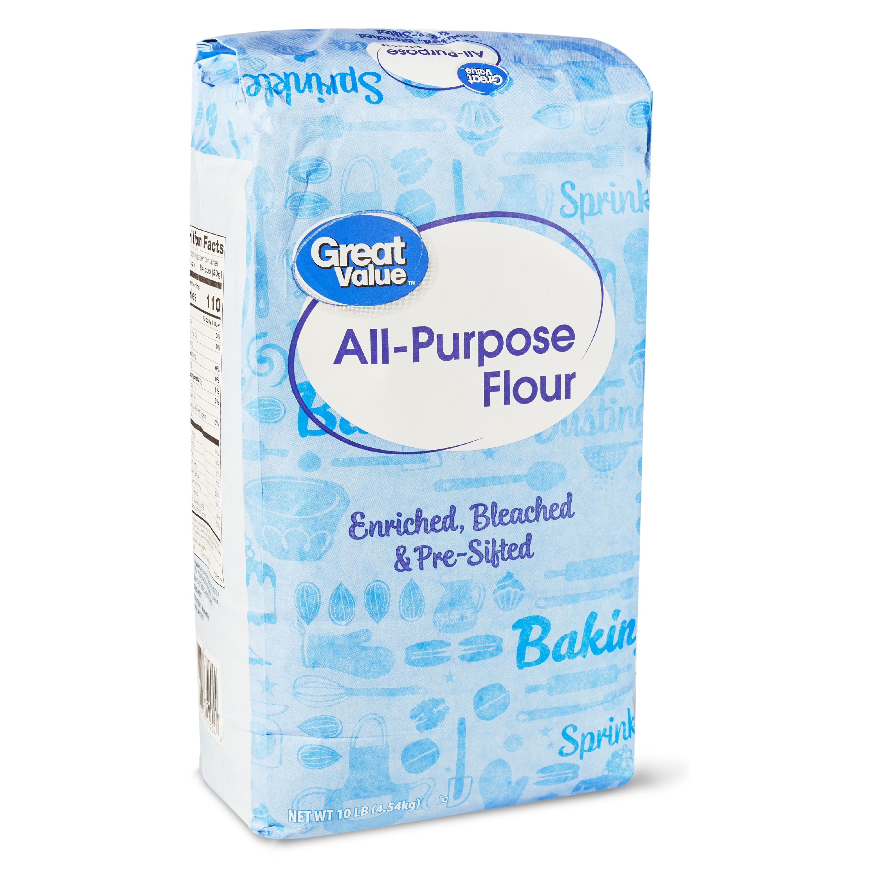 (2 Pack) Great Value All Purpose Flour, 160 Oz