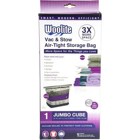 Woolite 1-Piece Cube Jumbo Vacuum Storage Bag, 35