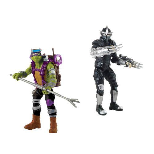 Teenage Mutant Ninja Turtles Movie 2 Hero Vs Villain Basic Figure 2 Pack Donatello Vs Shredder Walmart Com Walmart Com