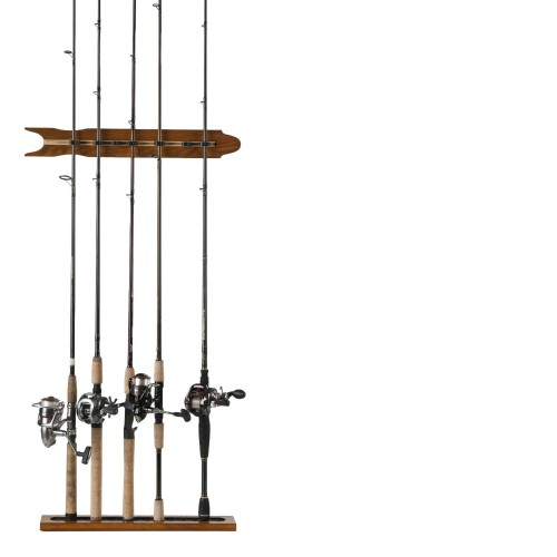 "Organized Fishing 20.9"" 8-Rod Modular Wall Rack, Oak by Organized Fishing"