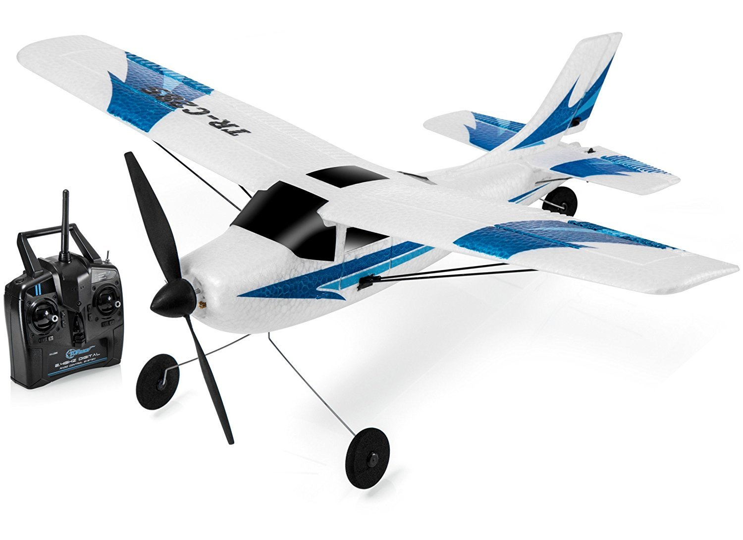 Top Race Remote Control Airplane, 3 Channel RC Airplane Aircraft Built in 6 Axis Gyro System Super Easy to Fly... by Top Race