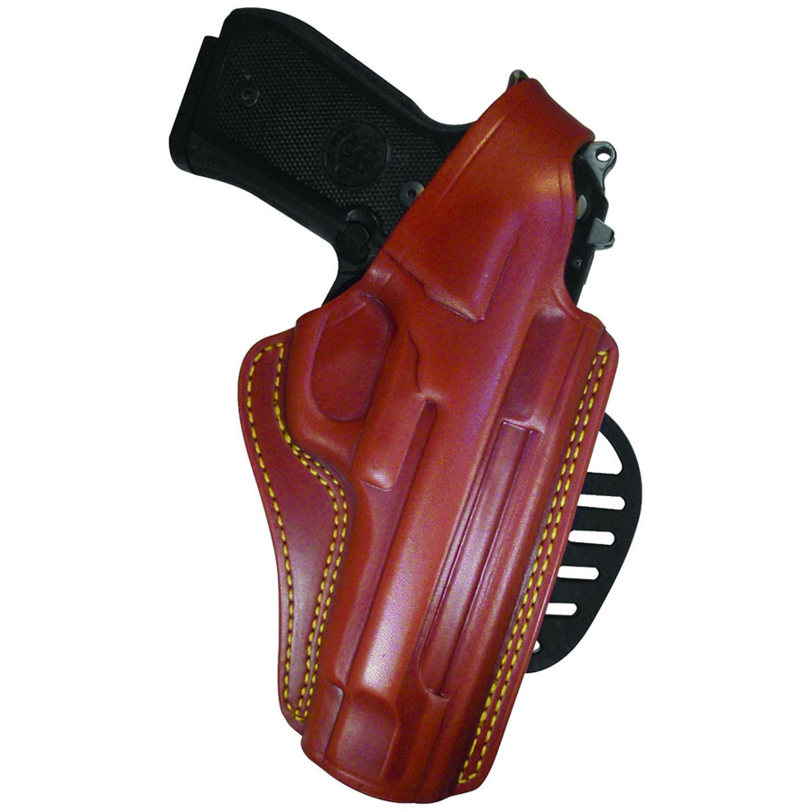 Gould and Goodrich 807-195 Gold Line Paddle Holster, Chestnut Brown