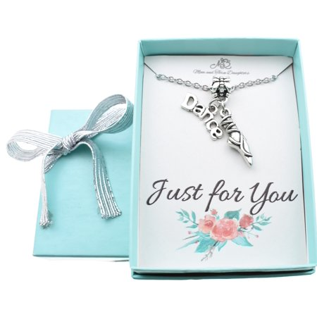 Little girls dance ballet slippers necklace in silver toned metal on a 14 stainless steel cable chain with two inch extender. Dance Gift. - All Girl Daisy Chain