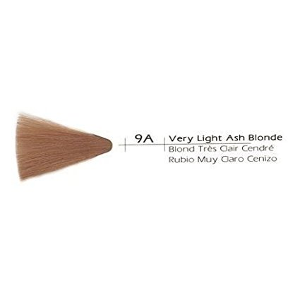 Cream Creative Hair Color, 9A Very Light Ash Blonde, PERMANENT CREAM COLOR By Vivitone From