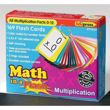 Math in a flash cards: multiplication