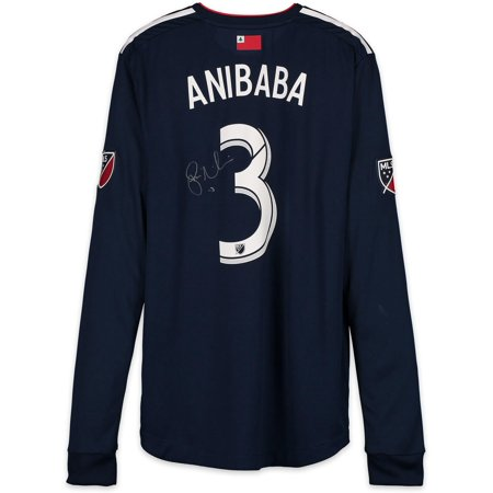 low priced 046c0 56653 Jalil Anibaba New England Revolution Autographed Match-Used Navy #3 Jersey  vs. Orlando City SC on October 13, 2018 - Fanatics Authentic Certified - ...