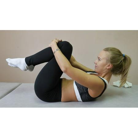 Laminated Poster Yoga Athlete Woman Exercise Spine Pilates Poster Print 24 X 36
