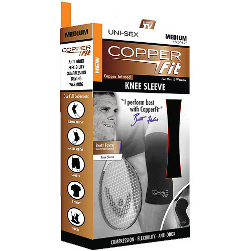 As Seen on TV Copper Fit Knee Compression Sleeve, Med