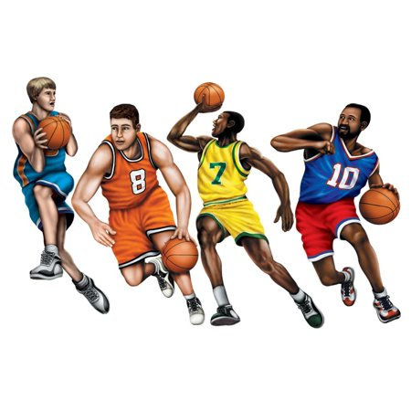 Club Pack of 48 Active Basketball Player Party Decoration Cutouts 21.5