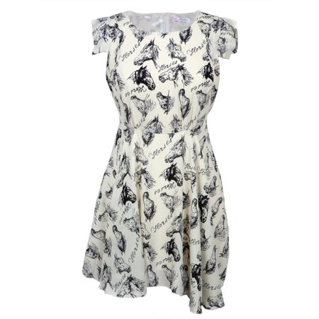 Horse Head Profiles All-Over Women's Dress - Halloween Fancy Dress For Horse And Rider