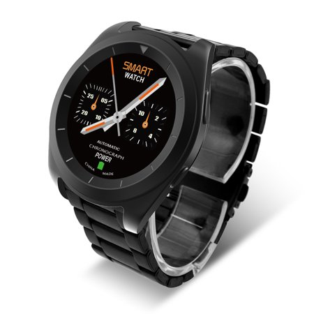 DT No.I G6 Bluetooth Smartwatch Stainless Steel Wrist Watch Sports Pedometer Sleep Heart Rate Monitor for Android  IOS