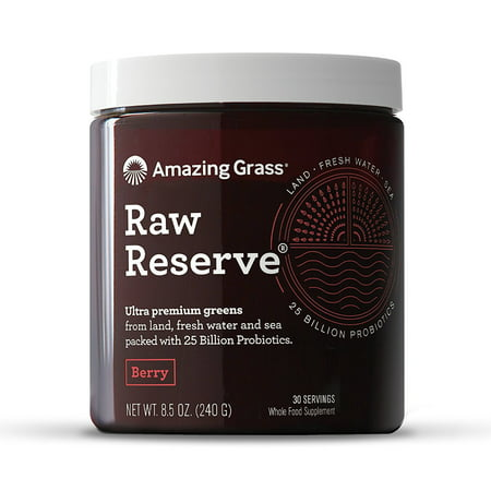 Superfood Berry - Amazing Grass Raw Reserve Green Superfood Powder, Berry, 30 Servings