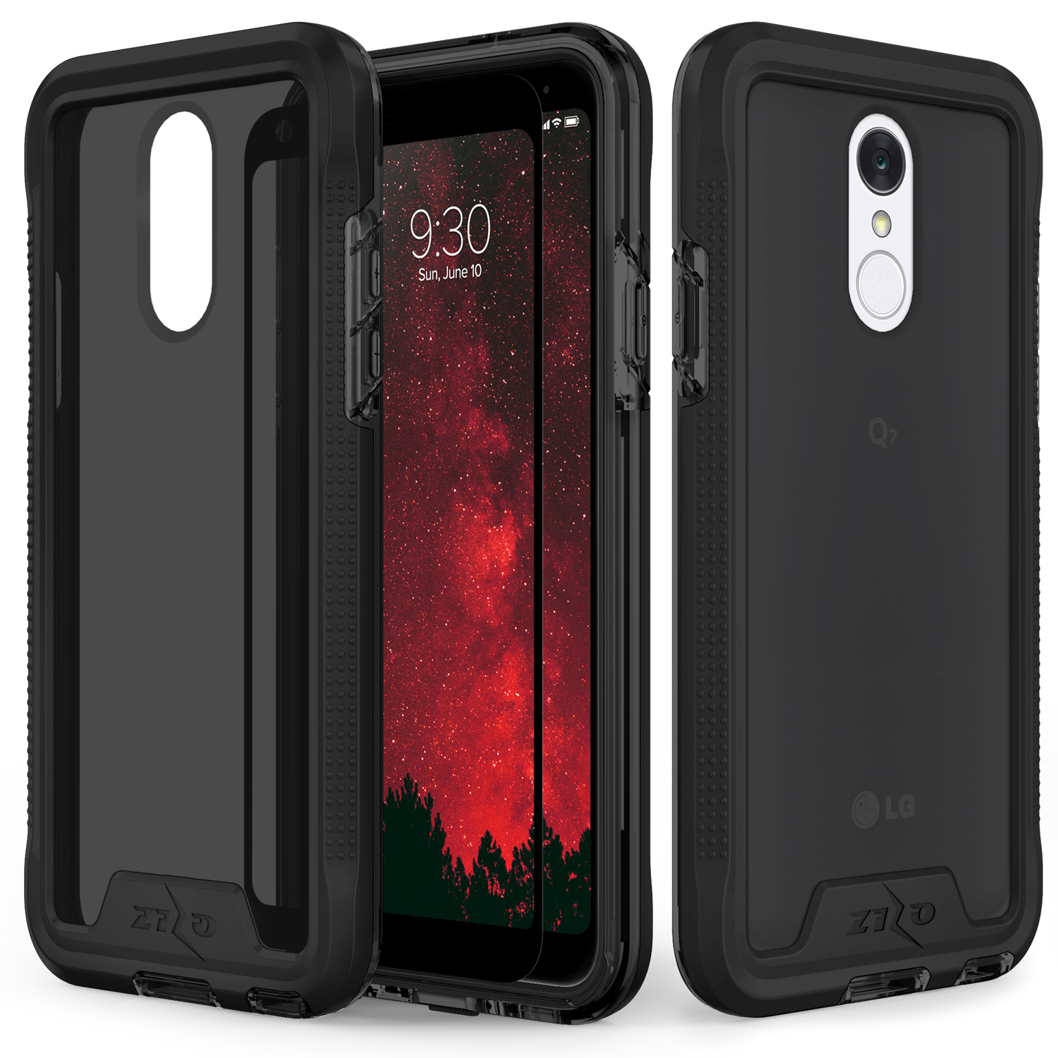 competitive price 38953 cc0d3 Zizo ION Series compatible with LG Q7+ Case Military Grade Drop Tested with  Tempered Glass Screen Protector LG Q7 Plus