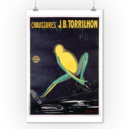 Chaussurers JB Torrilhon Vintage Poster (artist: Cappiello, Leonetto) France c. 1906 (9x12 Art Print, Wall Decor Travel (Jb Original Vintage)