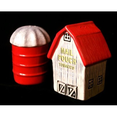Barn Silo Mail Pouch Salt Pepper Shakers