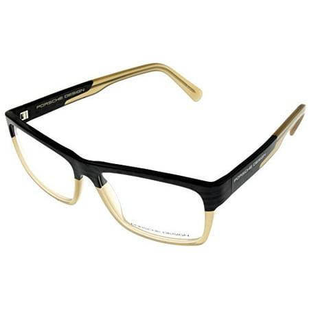 Porsche Design Prescription Eye wear Frames Unisex Black Blonde Rectangular (Porsche Eye Frames)