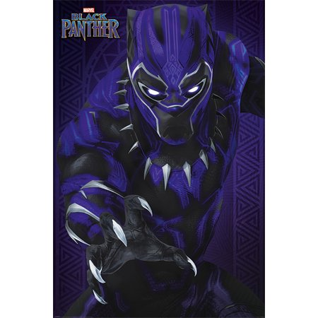 Black Panther - Marvel Movie Poster / Print (Panther / Glow) (Size: 24