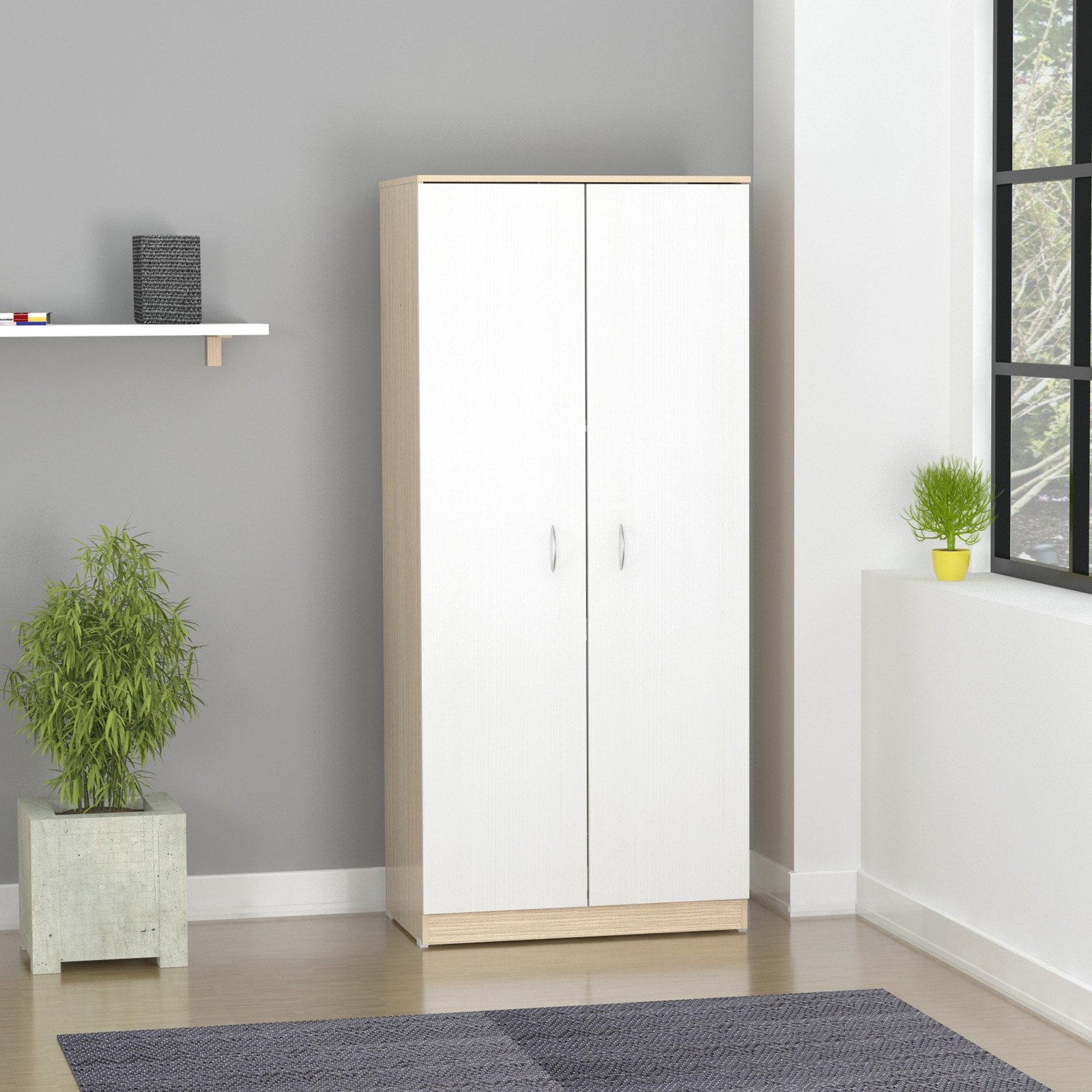 Inval America LLC Armoire with 2 Folding Doors by Inval