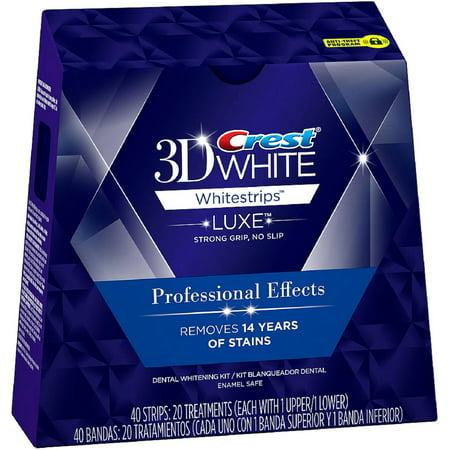 3D White Luxe Whitestrips Effets professionnels de blanchiment des dents Kit 20 ch (Pack de 4)