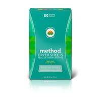 Method Dryer Sheets, Beach Sage, 80 Sheets