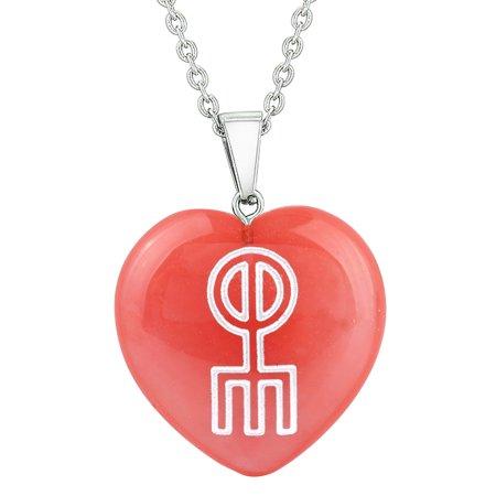 Amulet Norse Rune Love Spell Magic Powers Cherry Simulated Quartz