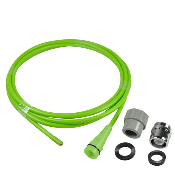 NEXT by Danco CLEAR-IT Drain Snake Water Jet Clog Remover Auger Tool | For Use With Faucets and Garden Hoses,10 ft, Green (10881)