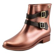 Anglomania Women Round Toe Synthetic Bronze Ankle Boot