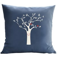 Personalized RedEnvelope Tree Initials Throw Pillow w/Insert 18x18