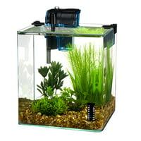 Penn Plax Radius 3.4-Gallon Curved Corner Glass Aquarium Kit