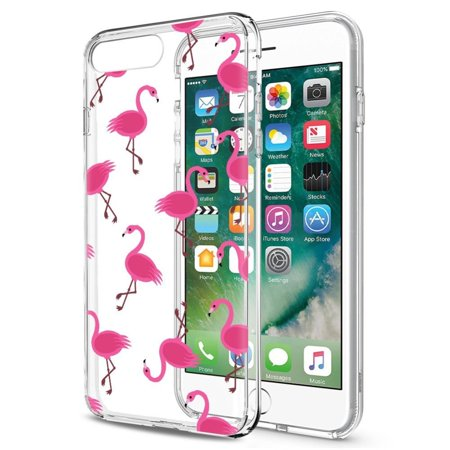 Made for Apple iPhone 8 / 7 TPU Case, [Pink Flamingos] Slim & Flexible Anti-shock Crystal Silicone Protective TPU Gel Skin Case Cover by REDshield