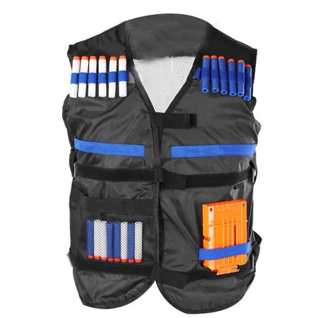 WALFRONT Toy Gun Jacket, EVA Cartridge Holder Soft Bullets Ammo Clip Vest Set Foam Bullet Clip Toy Gun Accessory Kit ()