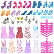 50 Piece Set Universal Dress Up Lele Barbie Doll Accessories Toy Play House Child Girl