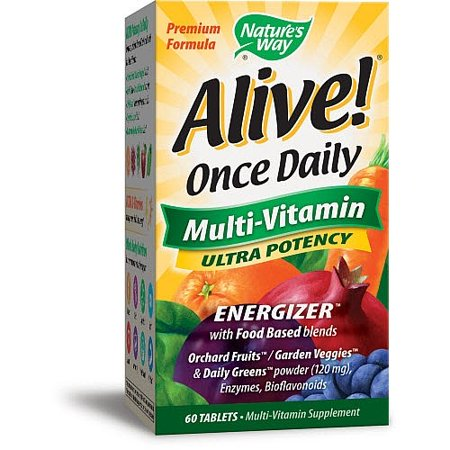 Natures Way Alive! Once Daily Adult Multivitamin Ultra Potency 60 Ct
