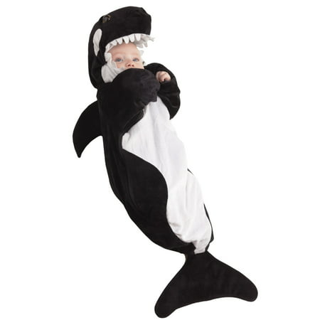 Kids Whale Costume (underwraps costumes baby's whale bunting, black/white,)