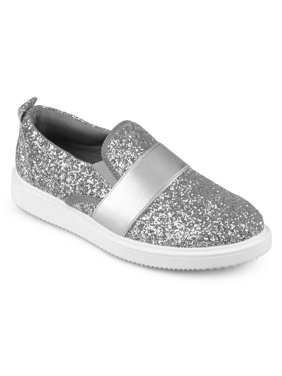 Women's Glitter Ribbon Slip-on Sneakers