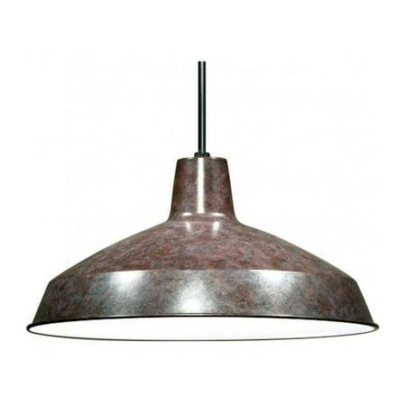 Nuvo Lighting 76662 - 1 Light Old Bronze Warehouse Aluminum Shade Pendant Light Fixture (1 Light - 16